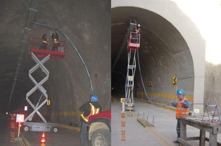 Paso por el túnel Falda La Queñua - Tarija