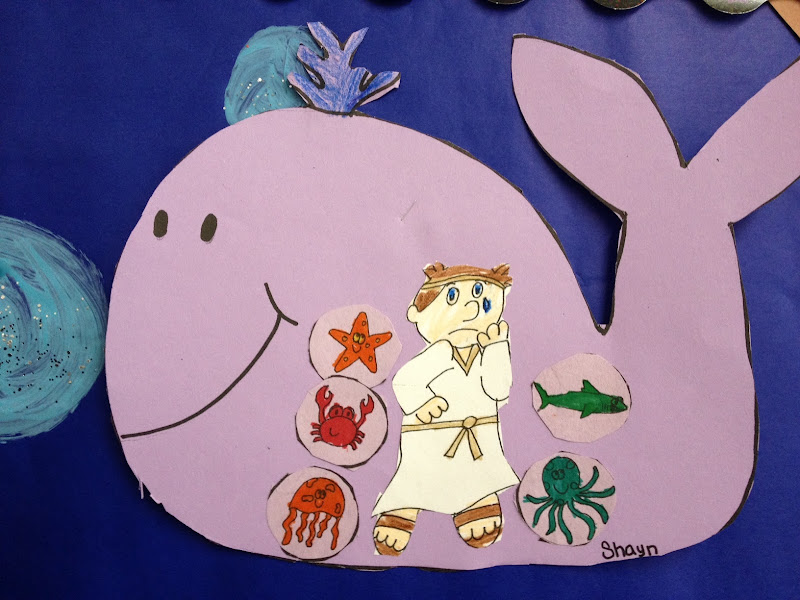 our workbook page, and followed it up with this adorable Jonah craft title=