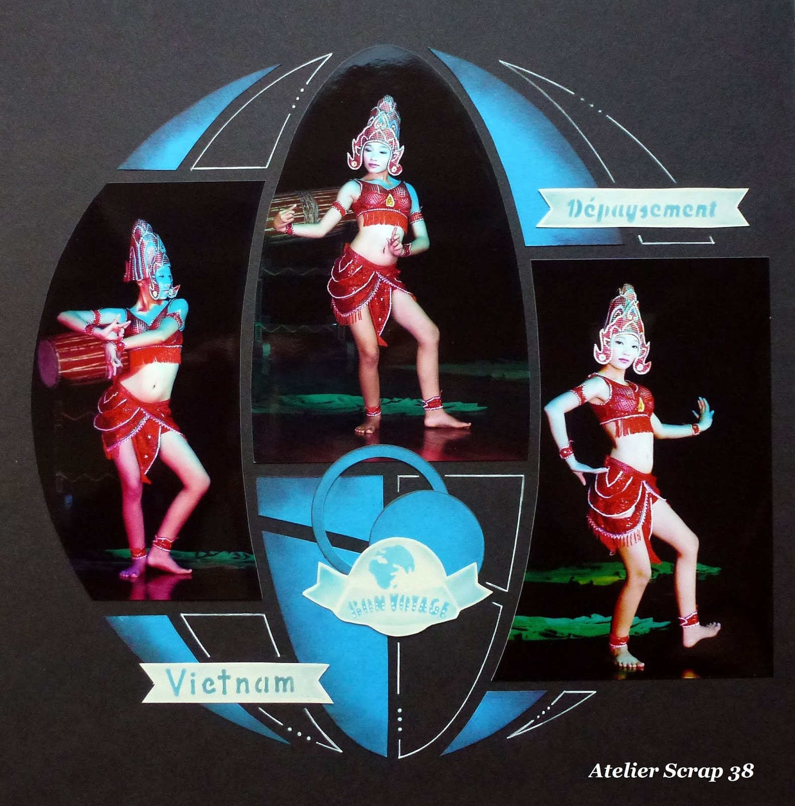 Atelier scrap 38 pack 15 ans azza for Decoration voyage autour du monde