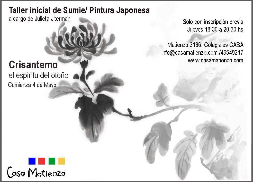 En Mayo: Seminario Inicial Sumie: Pintura Japonesa: Crisantemo. Por Julieta Jiterman