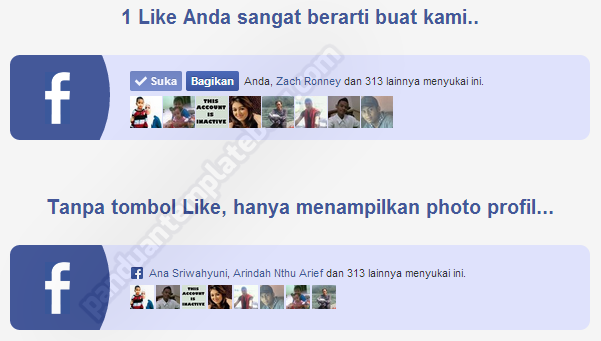 Pasang Tombol Like FanPage Facebook di Blog