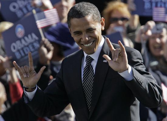Obama Illuminati Hand Sign