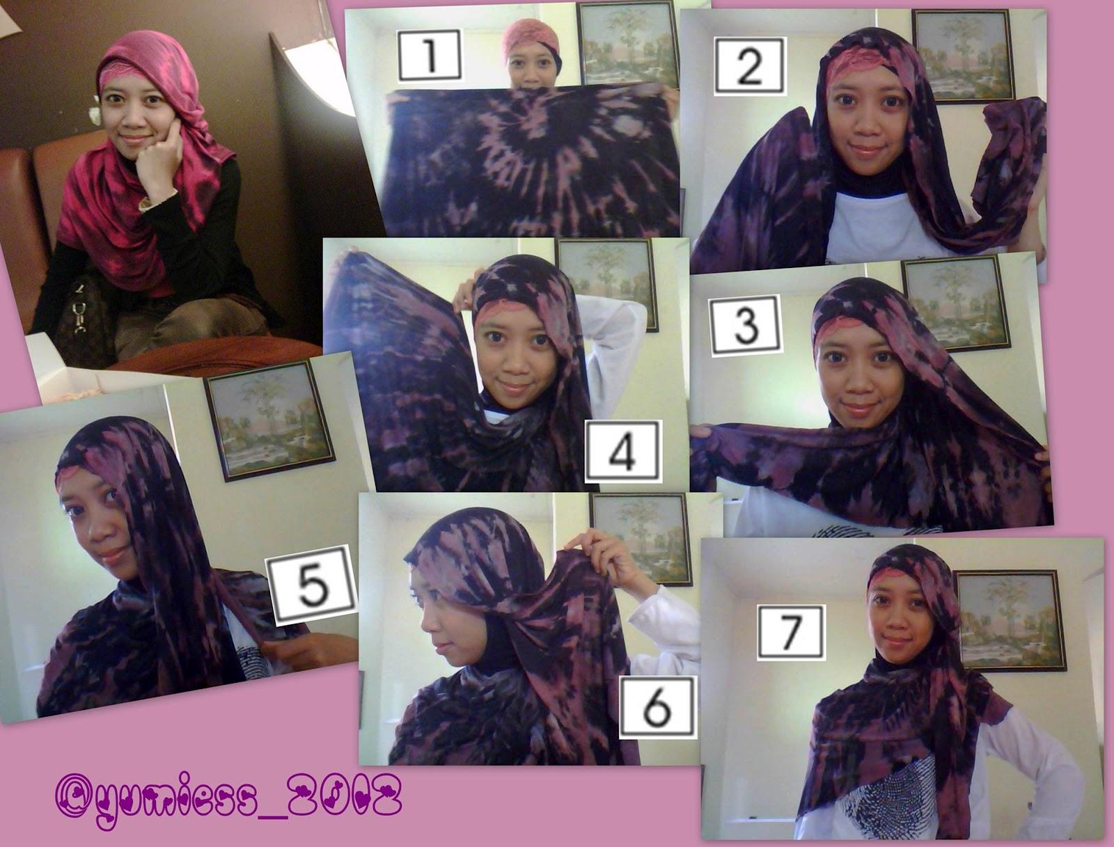Hijabers Tutorial Sakinah 2 Tutorial Pashmina Tie Dye Kaos II
