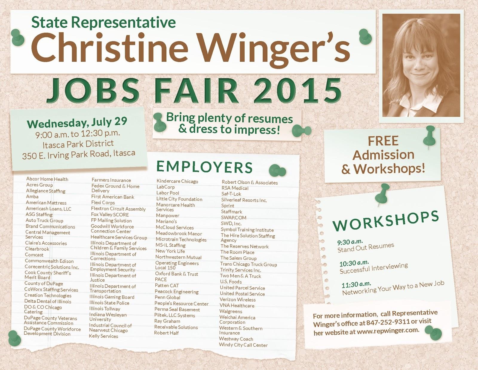 Illinois State Representative Christine Winger: June 2015