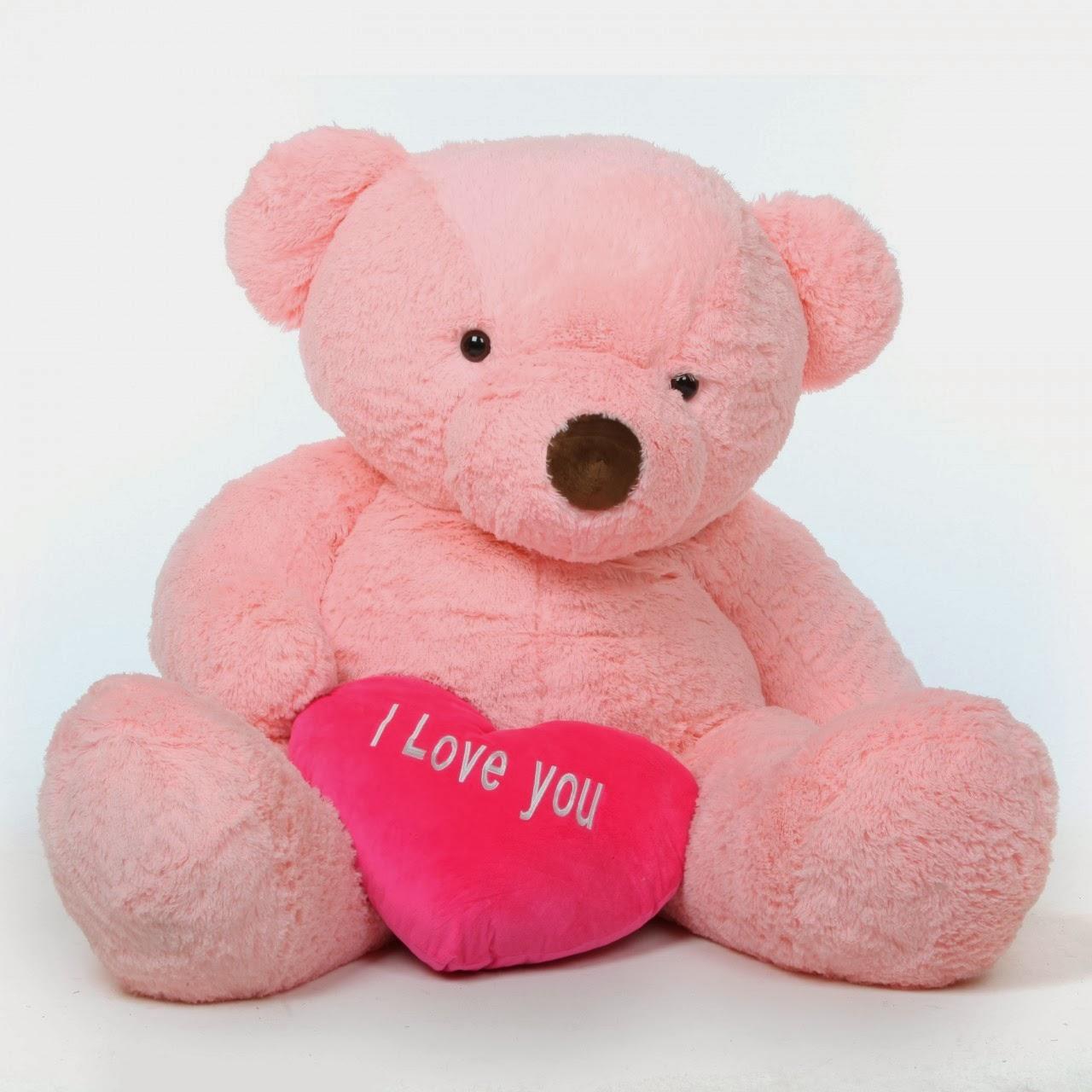 Giant Teddy Bea... Giant Pink Teddy Bear