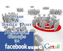 how to share your post in all facebook groups in one click using gmail