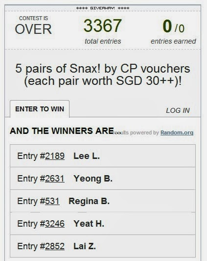 rafflescopter snax cp food vouchers giveaway