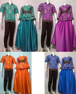 Baju Gamis Batik Modern Motif Songket Batik Bagoes