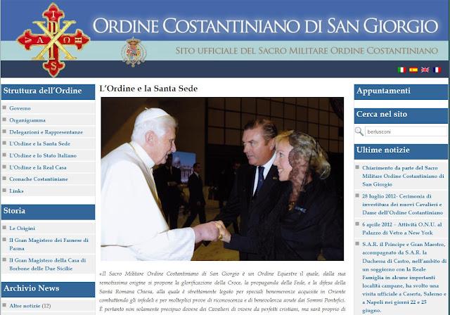Silvio Berlusconi, el Vaticano y la Orden Constantina Ordine%20constantiniano