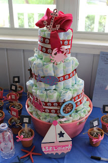 Brittany Marquis nautical diaper cake