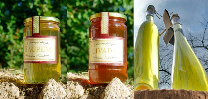 chestnut honey, meadow honey, and mead honey wine