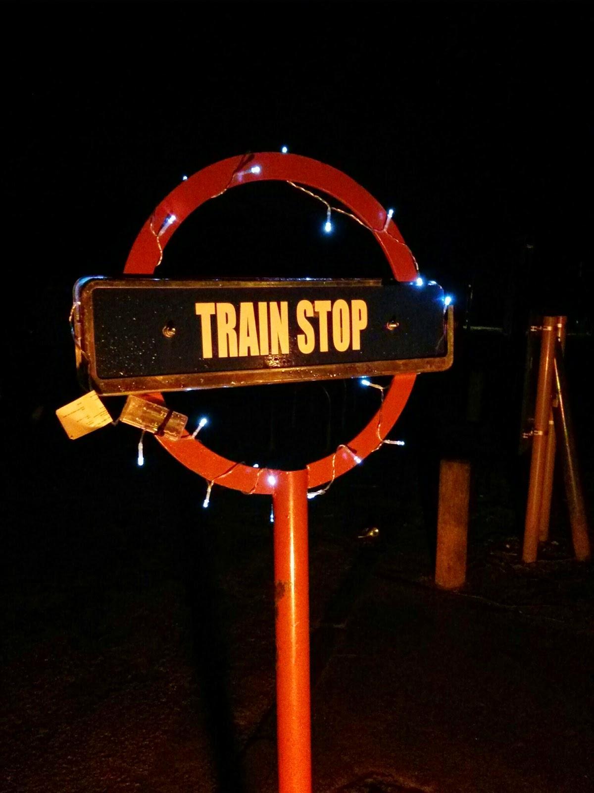 Christmas train stop