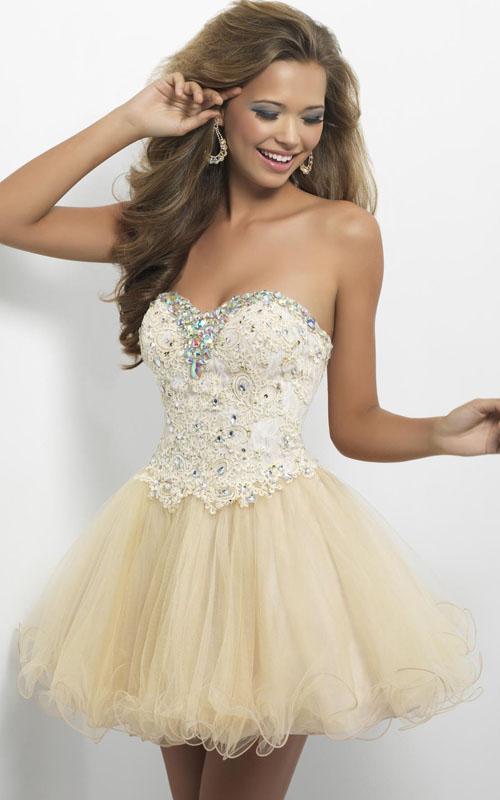 Short Prom Dress Heart Shaped Top