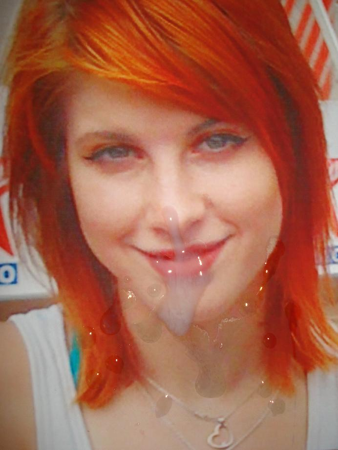 hayley williams with cum on her face