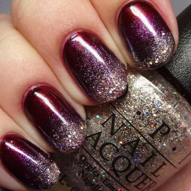 OPI Starlight Collection gradient nail art