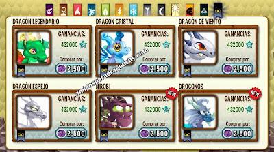 imagen para conseguir los nuevos dragones legendarios de dragon city
