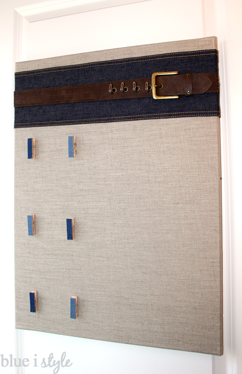 Back of door organizer for boys' accessories