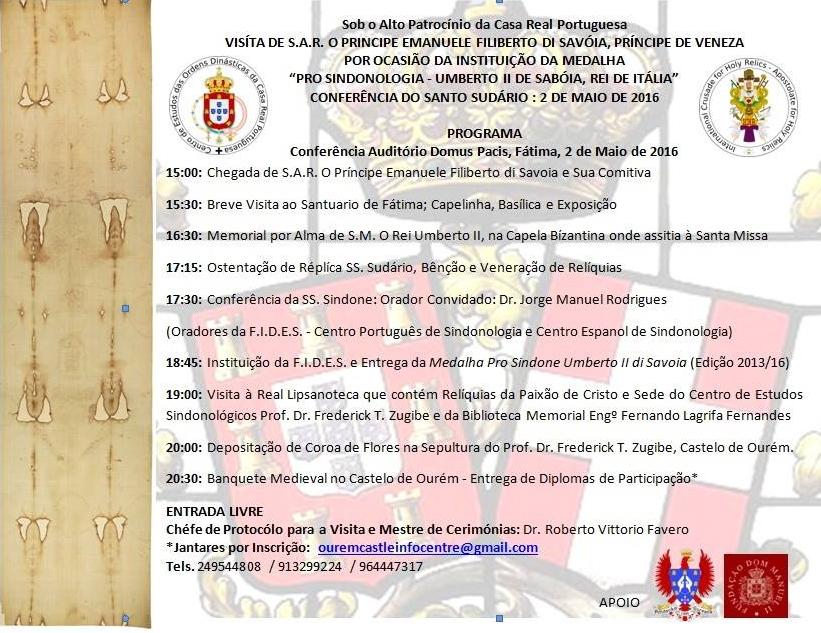 VISITA A PORTUGAL DO PRÍNCIPE EMANUELE FILIBERTO DI SAVOIA