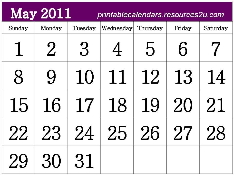 may calendar 2011 template. free calendar 2011 template.