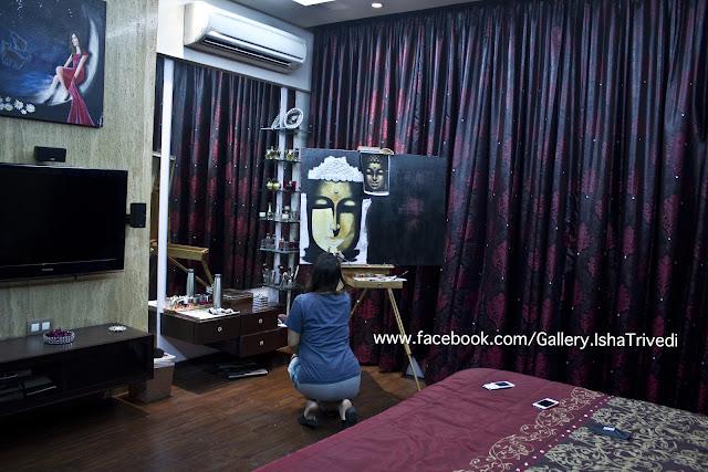 "Painting Buddha by Isha Trivedi ""Isha Trivedi"""