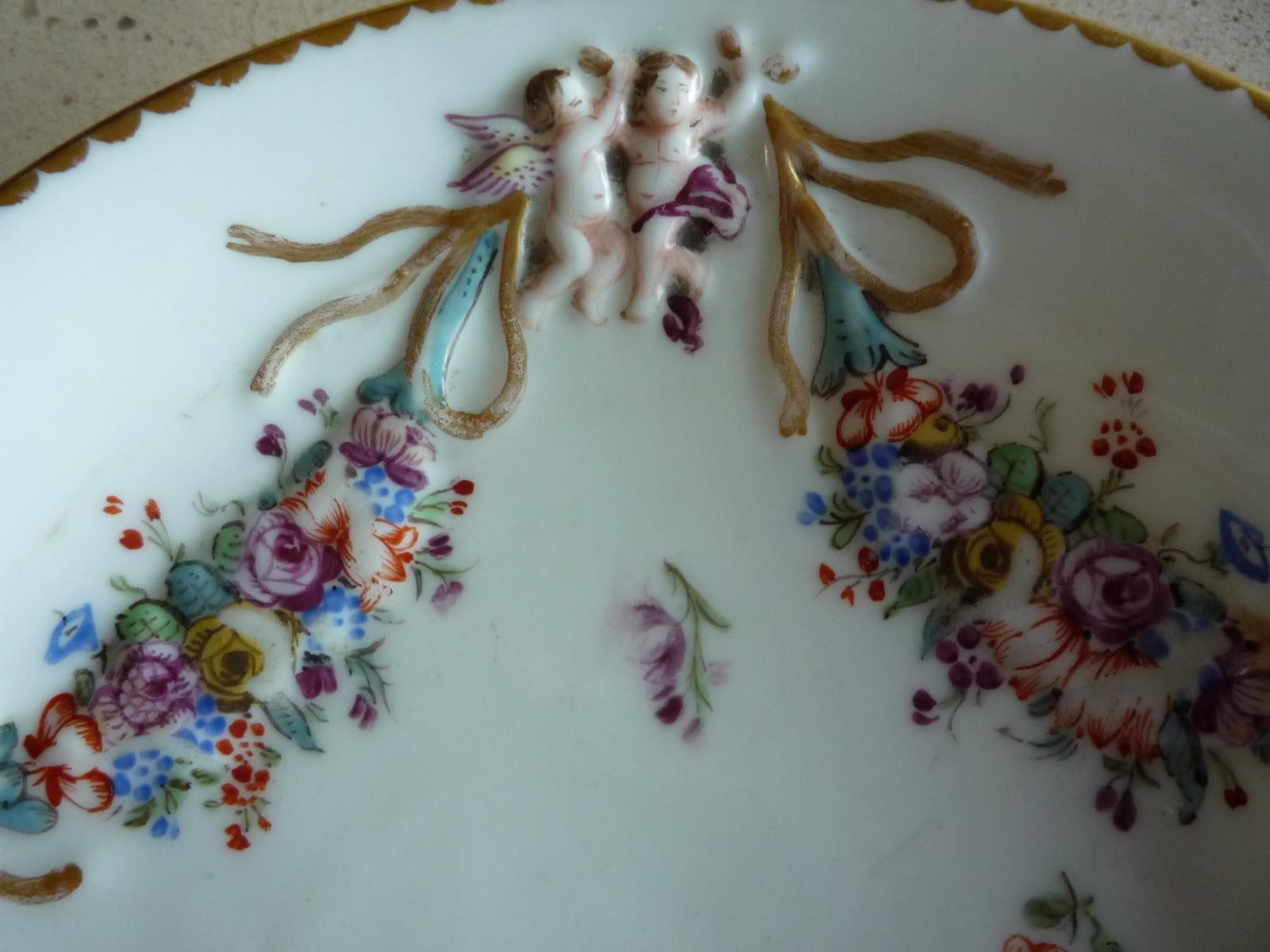 Arte livros e velharias pires de porcelana doccia ou for Porcelana italiana
