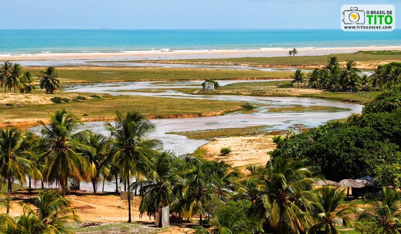 Foz do riacho da Lagoa Redonda, na Reserva Biológica de Santa Isabel, em Pirambu, Sergipe