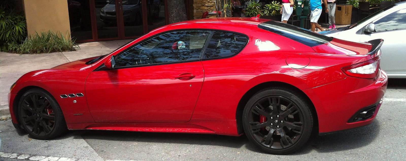 Red Maserati Granturismo In Coral Gables Exotic Cars On The Streets Of Miami