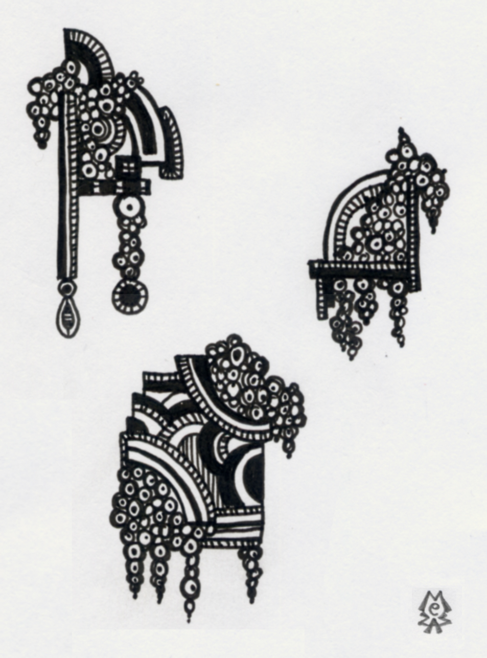zen doodle thursday art deco melt down mezzamay. Black Bedroom Furniture Sets. Home Design Ideas