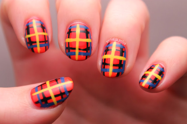 Plaid/Flannel Nail Art