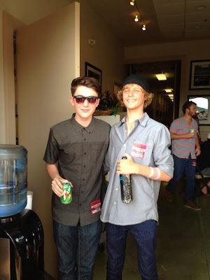 Greyson Chance and Cody Lovass at the Jason Mraz Concert