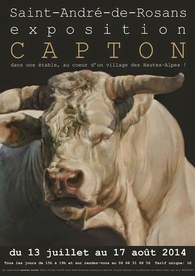 EXPO D'ART ANIMALIER DE CAPTON DANS UNE ÉTABLE À SAINT-ANDRÉ-DE-ROSANS