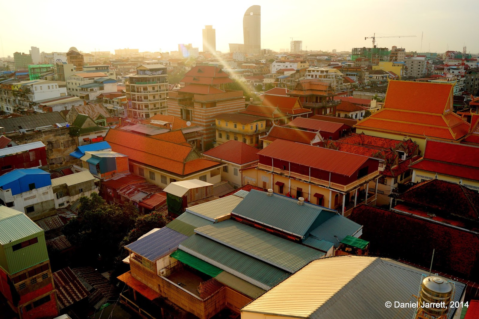 Rooftops of Phnom Penh, Cambodia