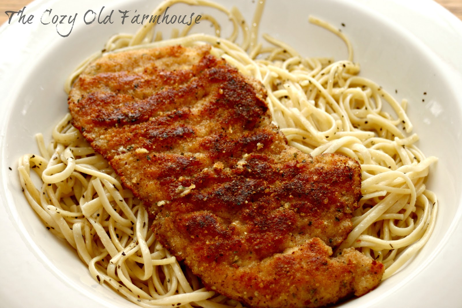 "The Cozy Old ""Farmhouse"": Crusted Chicken Romano"