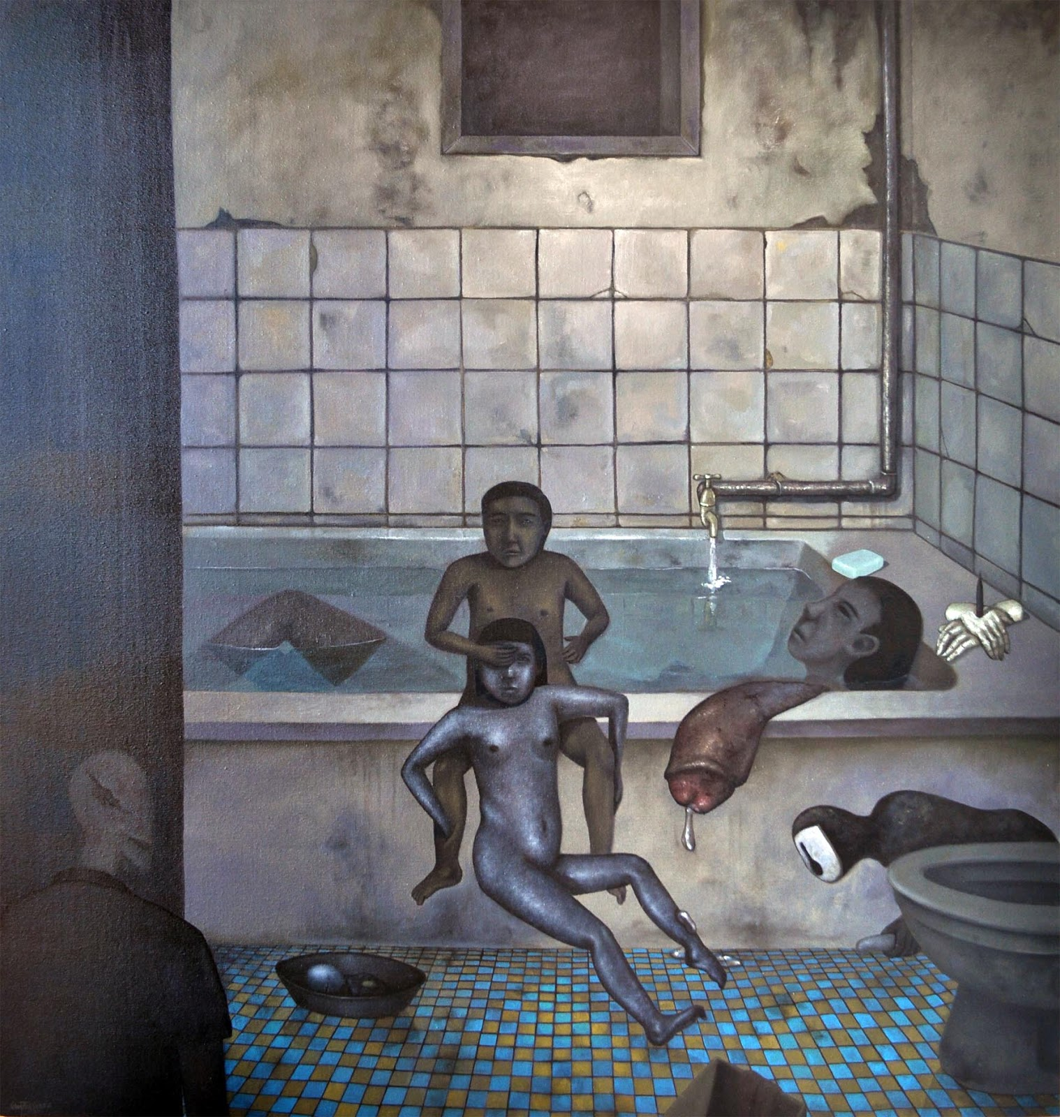Bathroom21525 X 147cm Oil On Canvas2011 Bathroom