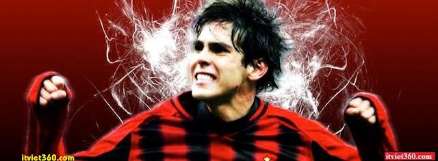 Ảnh bìa Facebook bóng đá - Cover FB Football timeline, Kaka trong màu áo ACmilan