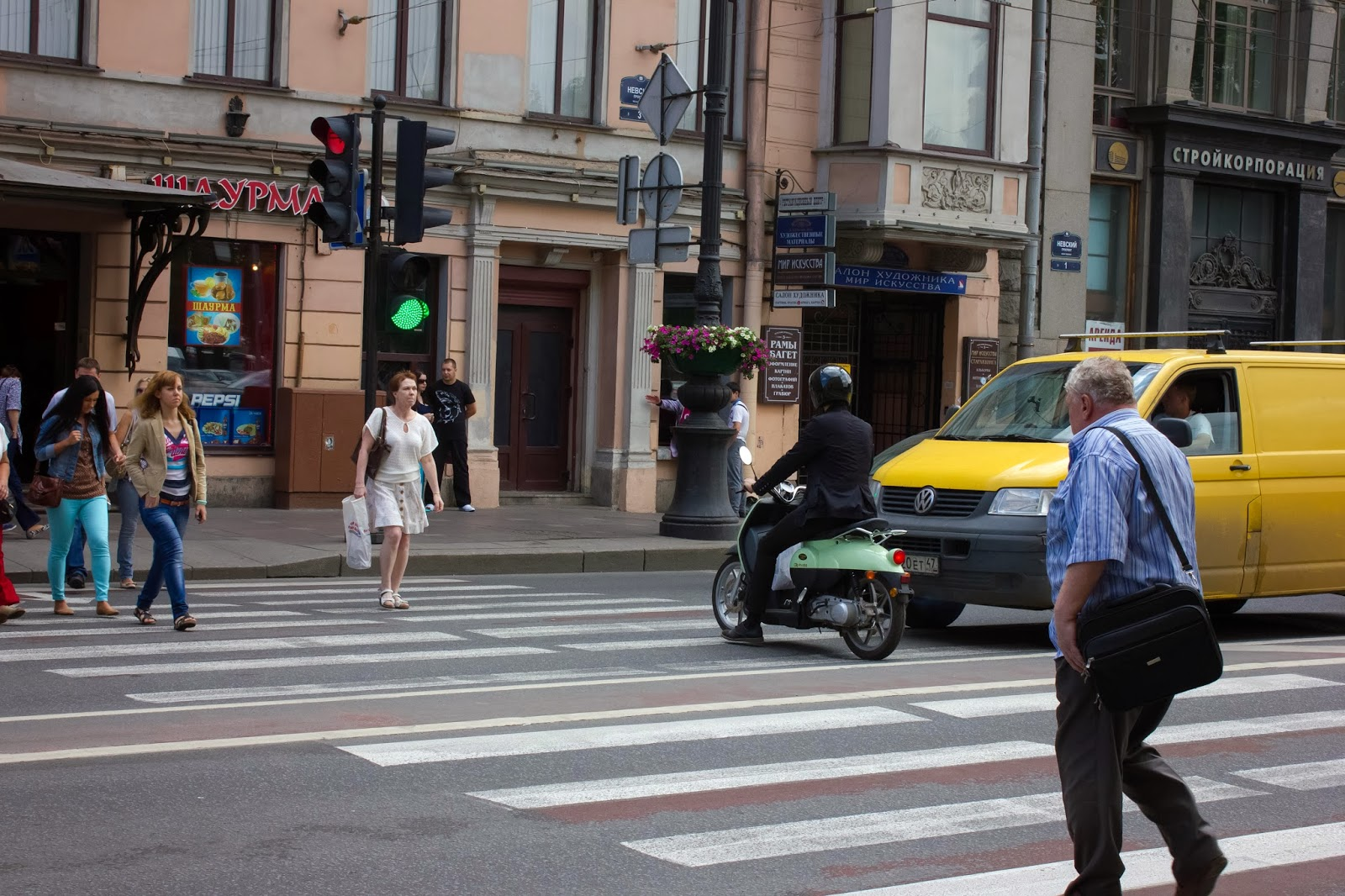 Санкт-Петербург, Россия, Случай на переходе