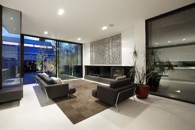 decoración de sala gris