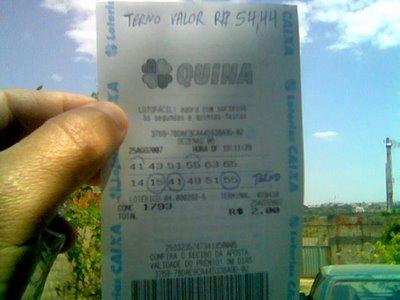 Seis apostas premiadas da Quina são de mesmo 'sortudo', diz Caixa