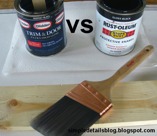 Simple Details: high gloss paint comparison & review...