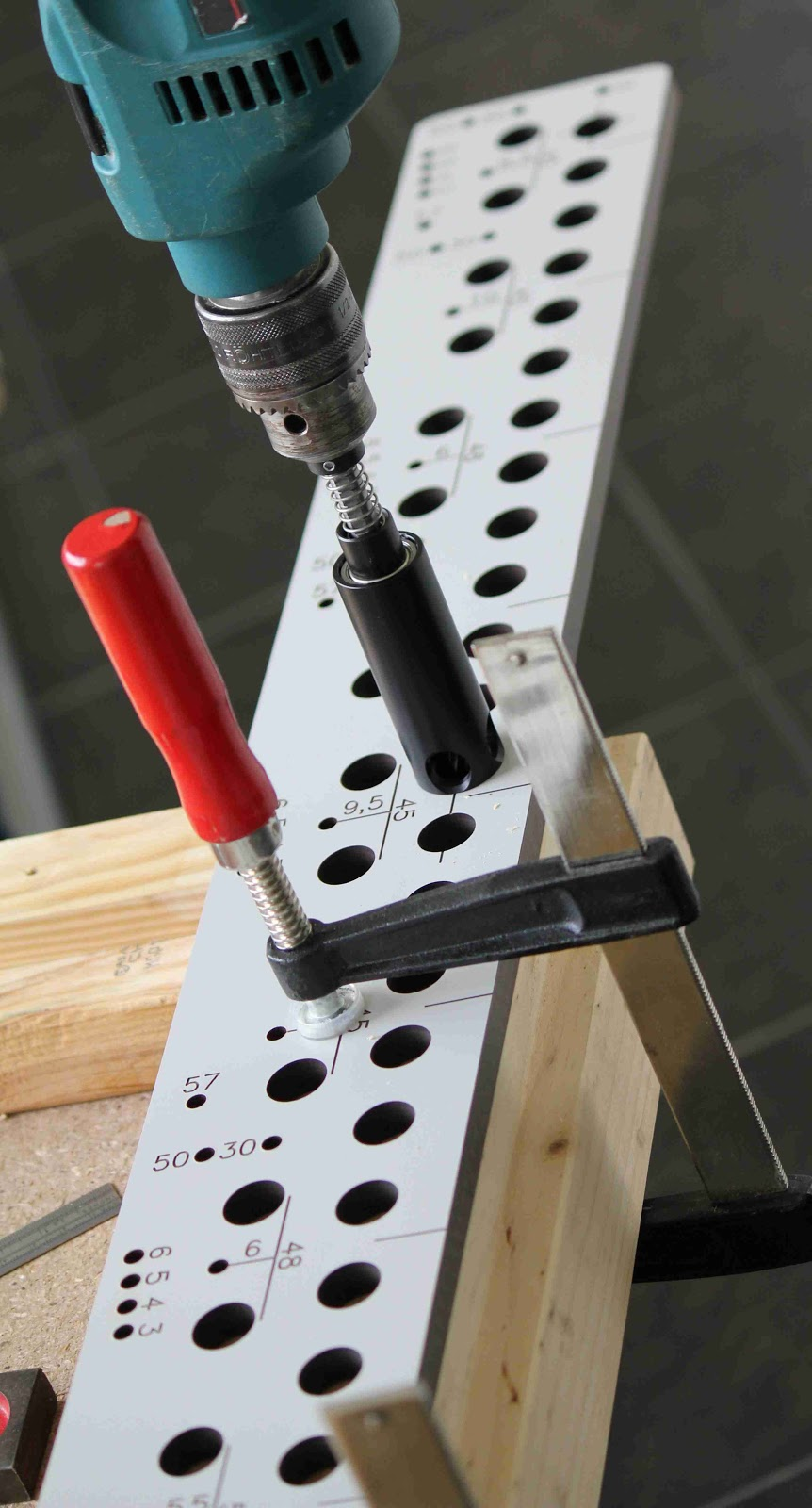 Once A Few 5mm Holes Have Been Drilled Initially,