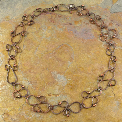Balled Headpin Copper Choker