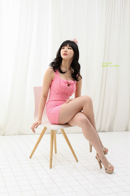 3 Yeon Da Bin in Pink - very cute asian girl - girlcute4u.blogspot.com