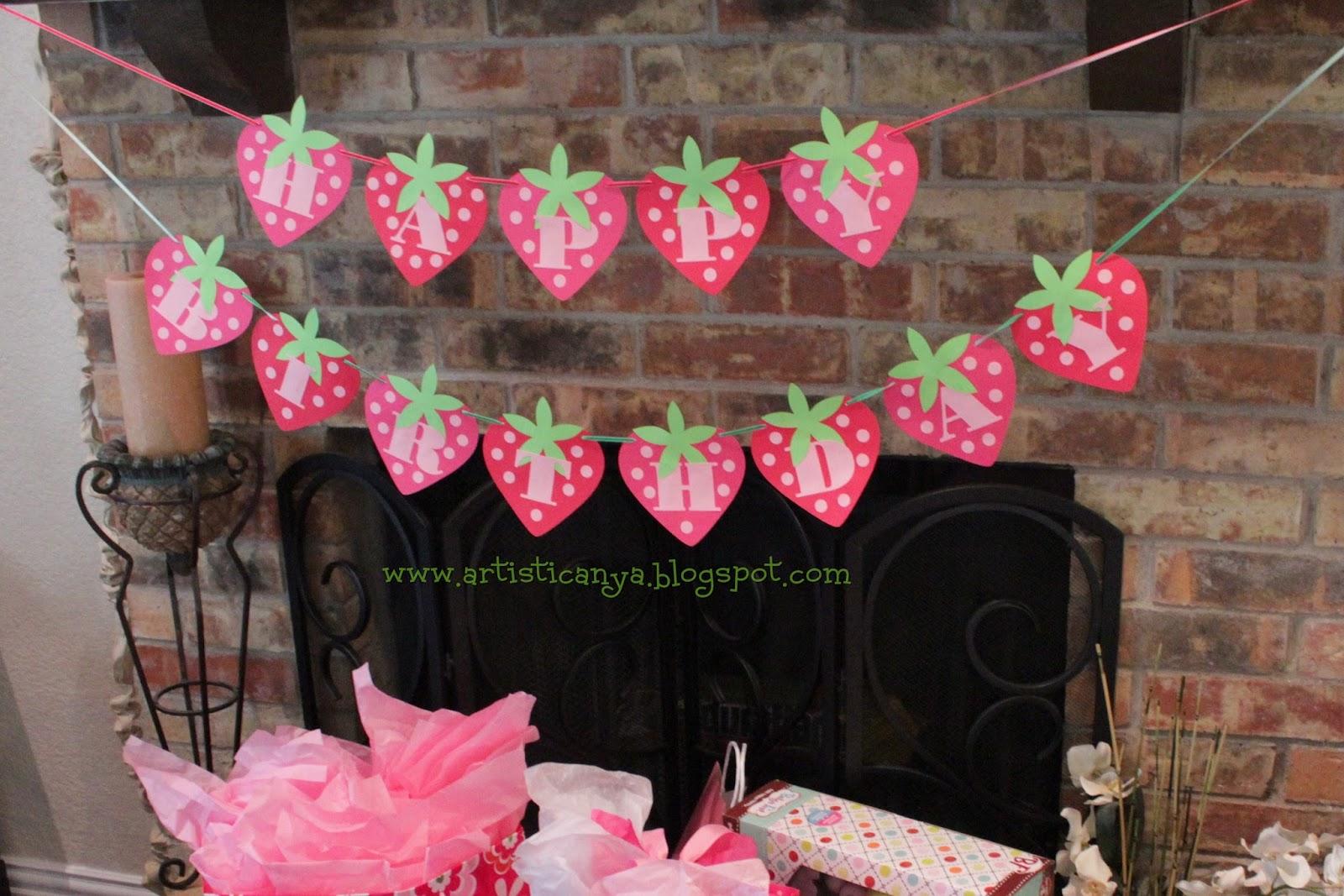 Artistic Anya Designs: Strawberry Shortcake Party