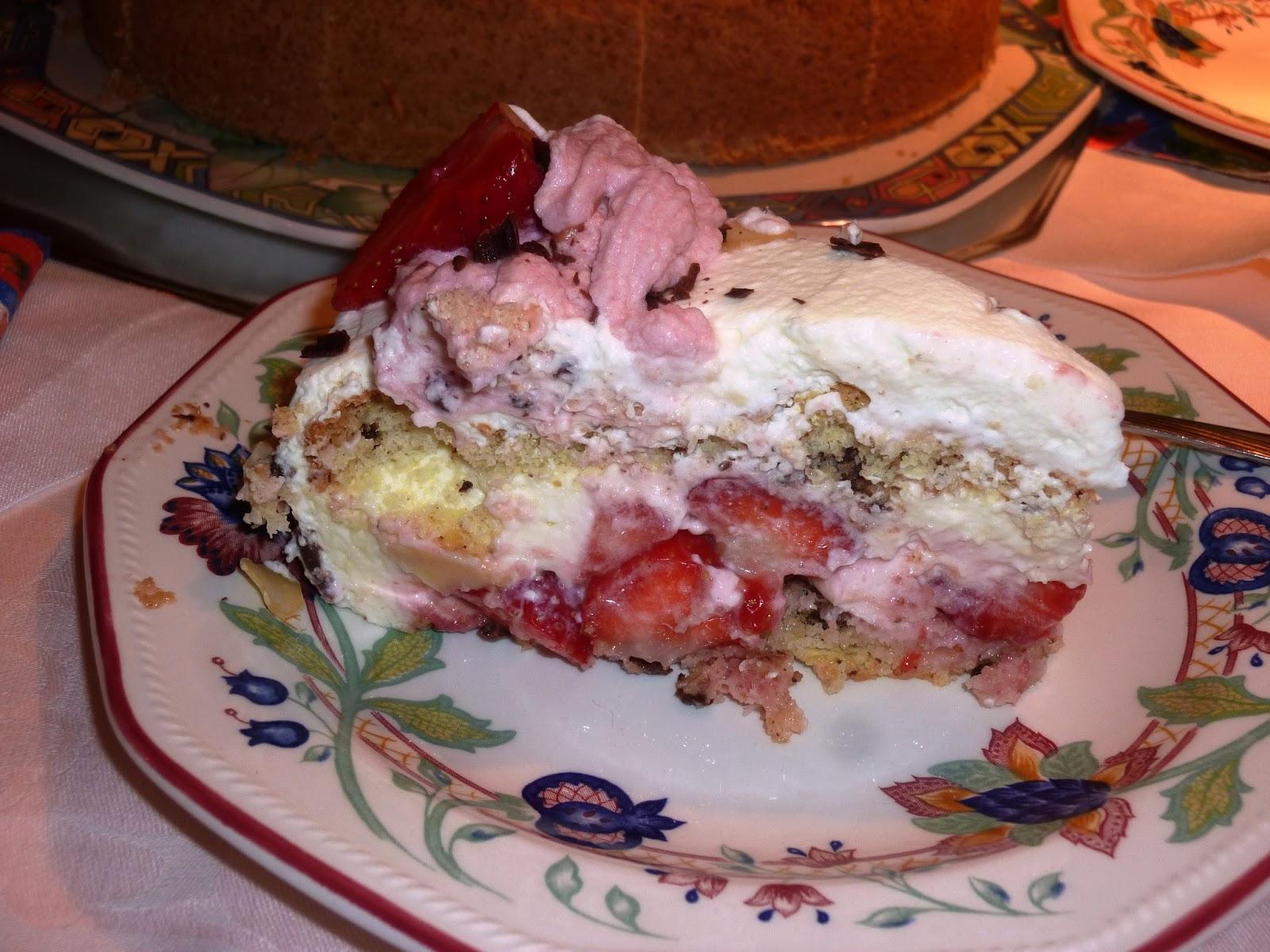 En la sobremesa de María: Pastel de fresas. Una deliciosa y amigable ...