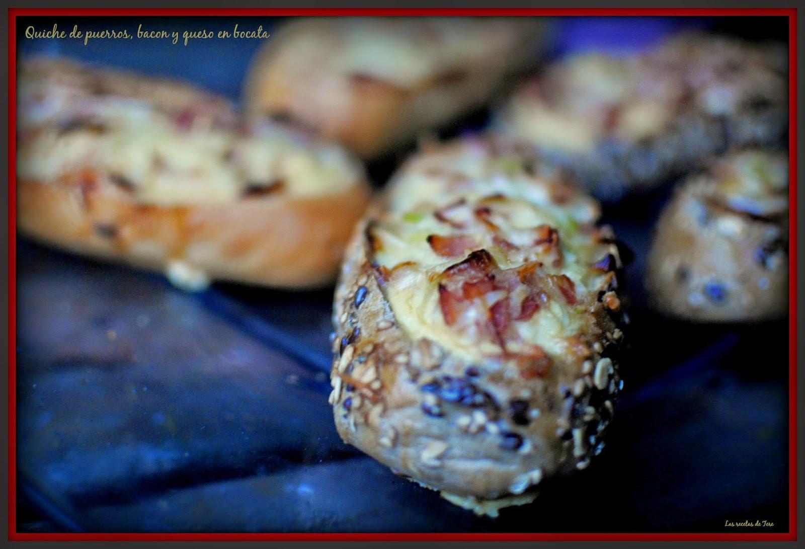 Quiche de puerros, bacon y queso en bocata 04