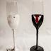 Svadobné poháre zdobené papierom (VIDEO)