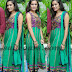 Kumudha in Green Salwar Kameez