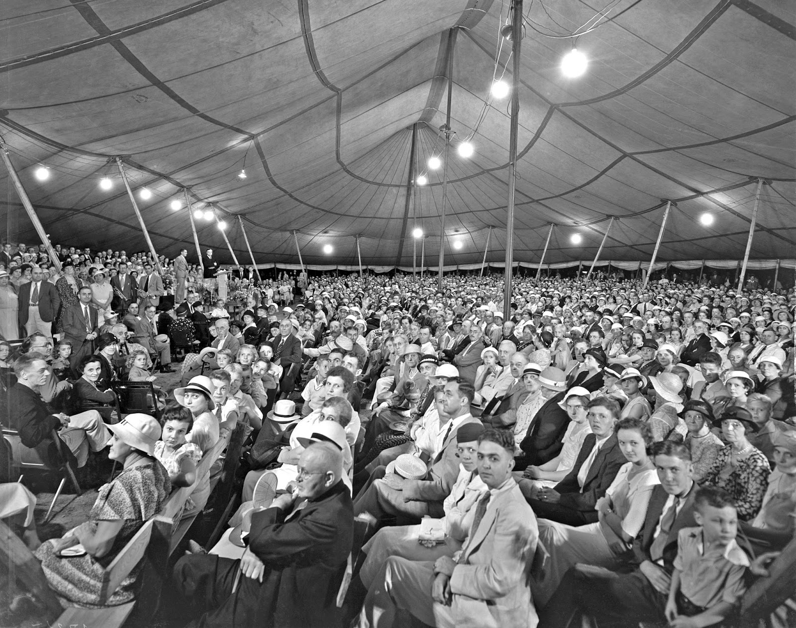Tent revival 1933 & History in Photos: Lafayette Studio