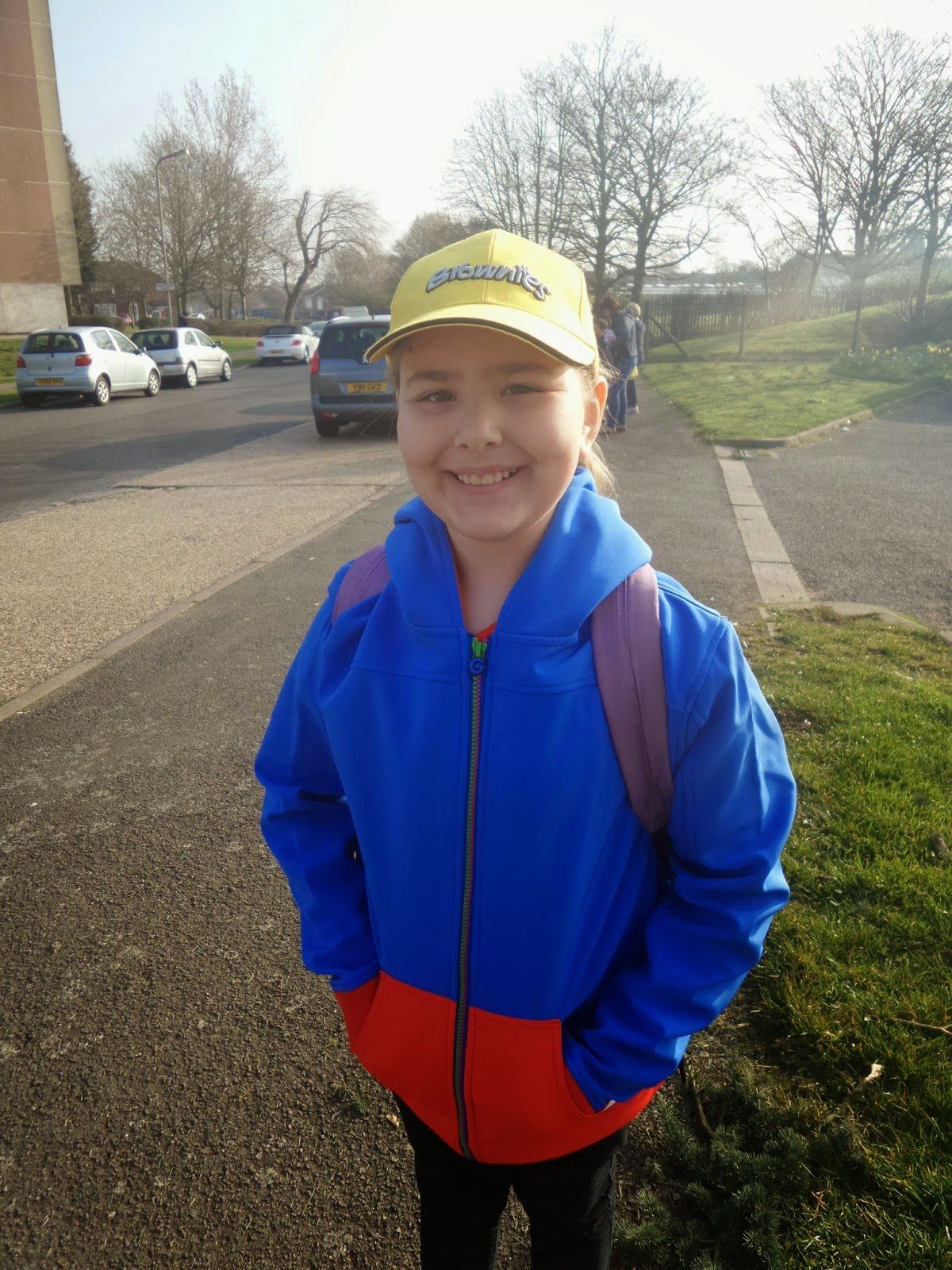 Top Ender in her Guides gear about to go on a Guides Trip