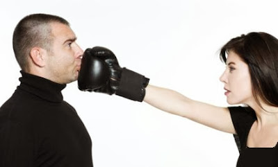 20 Relationship Rules  - woman hit man boxing box punch